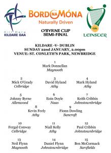 O'Byrne Cup Semi-Final