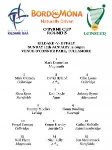 O'Byrne Cup – Kildare v Offaly