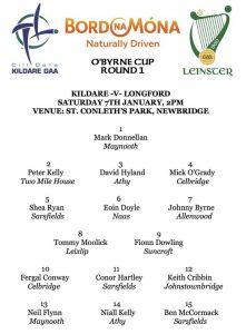 O'Byrne Cup – Kildare v Longford
