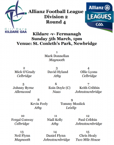 Allianz Football League Team News – Kildare v Fermanagh