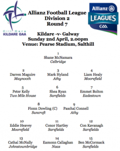 Allianz Football League Team News – Kildare v Galway