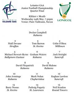 Leinster Junior Football Championship Quarter Final