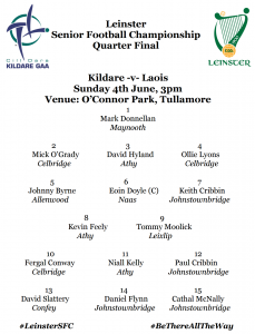 Leinster SFC Quarter Final Team News – Kildare v Laois