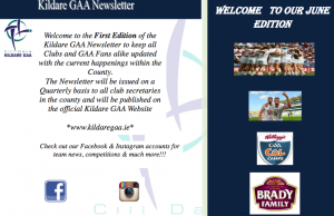 Kildare GAA Newsletter June Edition