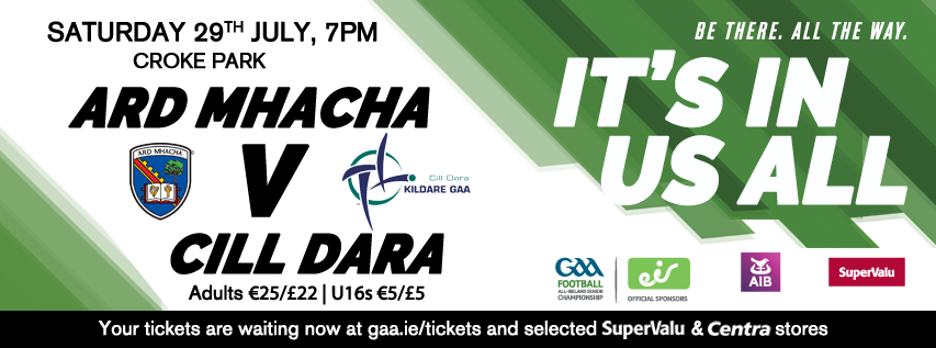 Ticket Information – All Ireland SFC Round 4B Kildare v Armagh