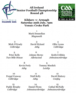 Team News – Kildare v Armagh