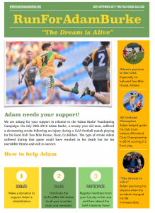 Run for Adam Burke