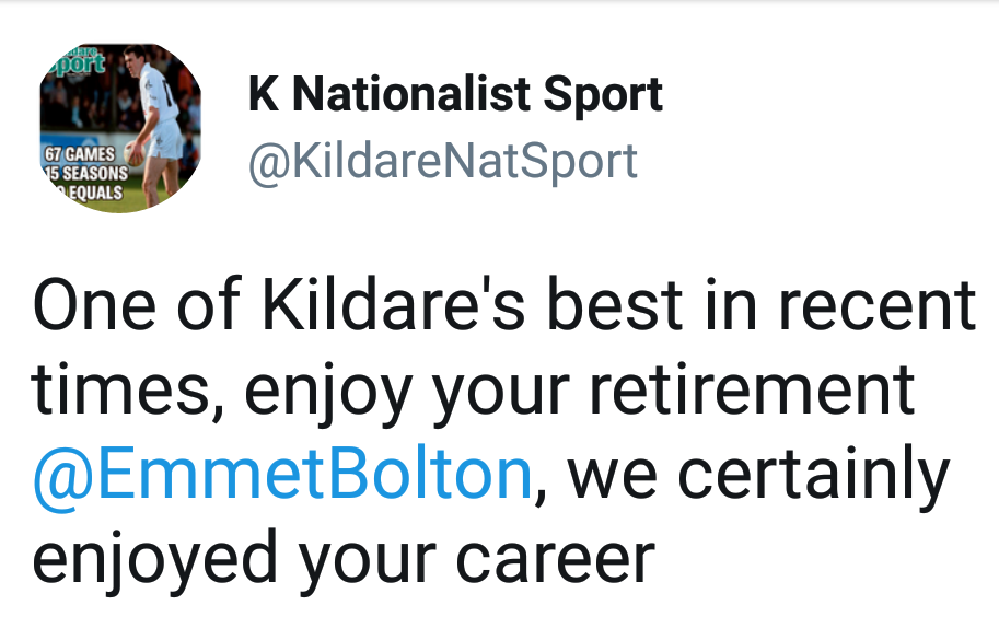 Emmet Bolton retires from Inter-County Football