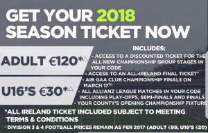 GAA Season Ticket