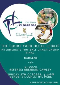 Court Yard Hotel Leixlip IFC Final