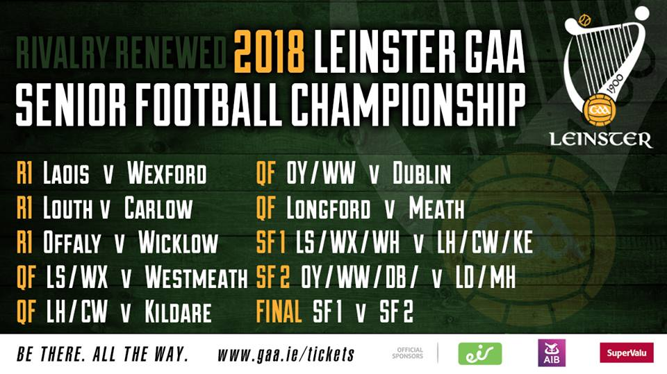 2018 Leinster SFC Draw