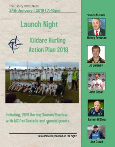 Launch Night – Kildare Hurling Action Plan 2018