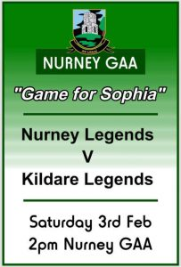 Nurney GAA – Game for Sophia