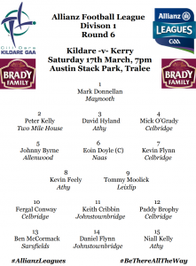 Team News: AFL Division 1 – Kildare v Kerry