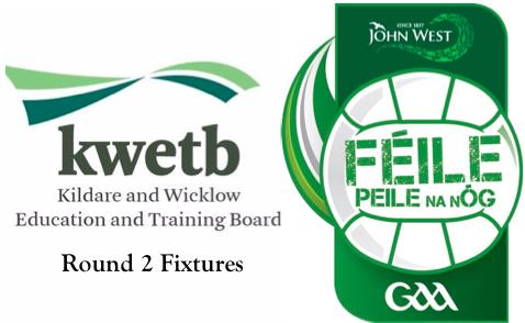 KWETB U14 Féile Football – Round 2 Fixtures