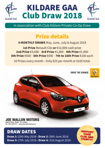 Kildare GAA Club Draw 2018