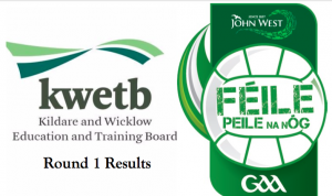 KWETB U14 Feile Football – Round 1 Results