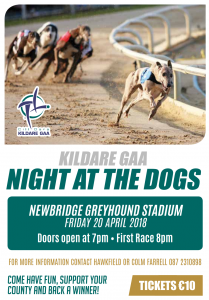 Kildare GAA – Night at the Dogs