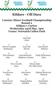 Team News: Electric Ireland Leinster MFC Round 2