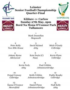Team News: Leinster SFC Quarter Final Kildare v Carlow