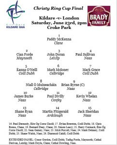 Christy Ring Cup Final – Team News
