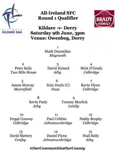 Team News: Kildare v Derry