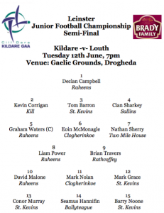 Team News: Leinster JFC Semi-Final