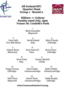 Team News: Kildare v Galway
