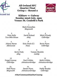 Team News: Kildare v Galway
