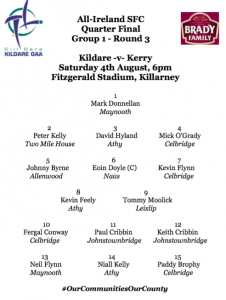 Super 8's Team News: Kildare v Kerry