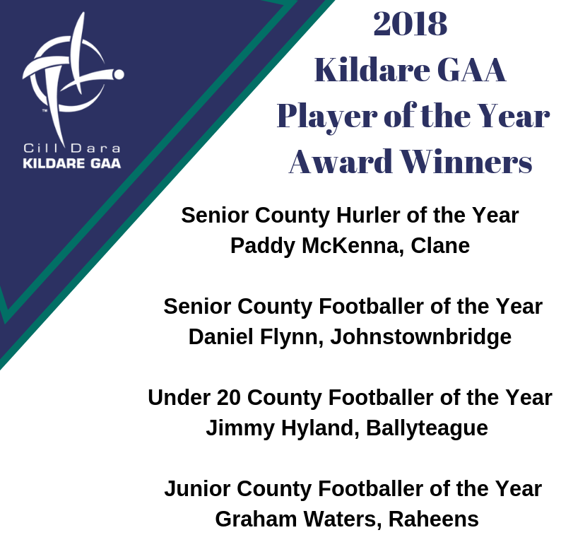 Kildare GAA Player of the Year Award Winners 2018