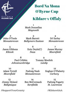 Team News: Kildare v Offaly
