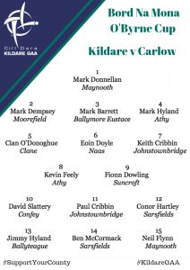 Senior Football Team News: Kildare v Carlow