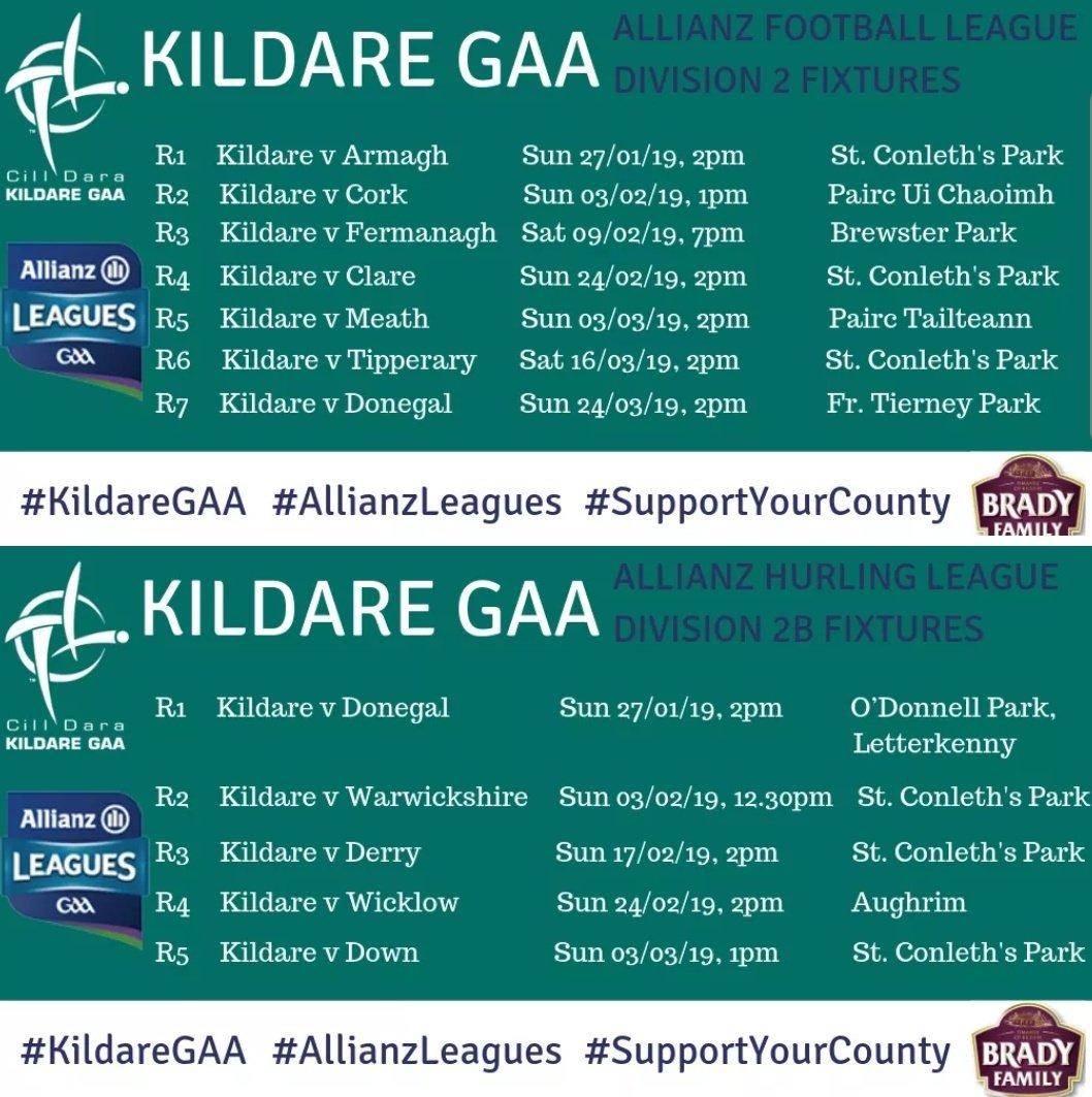 Be There All The Way with Kildare GAA for the 2019 Allianz Leagues