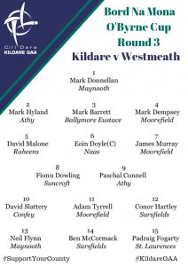 Team News: O'Byrne Cup – Kildare v Westmeath