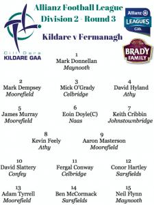Team News: Kildare v Fermanagh – Allianz Football League