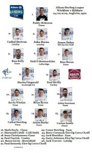 Team News – Kildare v Wicklow – Allianz Hurling League