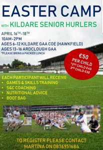 Kildare Senior Hurlers' Easter Camp