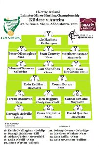 Kildare Minor Hurling Panel v Antrim Named