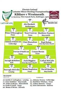 Kildare v Westmeath – Minor Hurling Team News