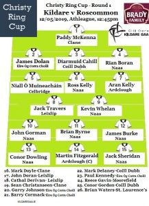 Christy Ring Cup -Team News Kildare v Roscommon