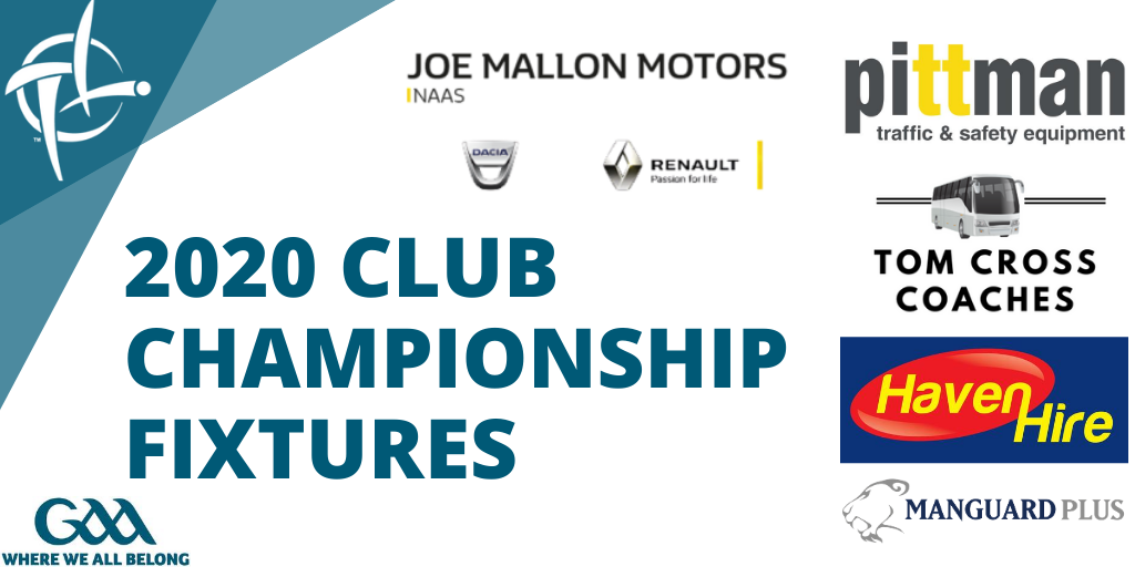Kildare GAA Club Fixtures Monday 28th September – Wednesday 7th October