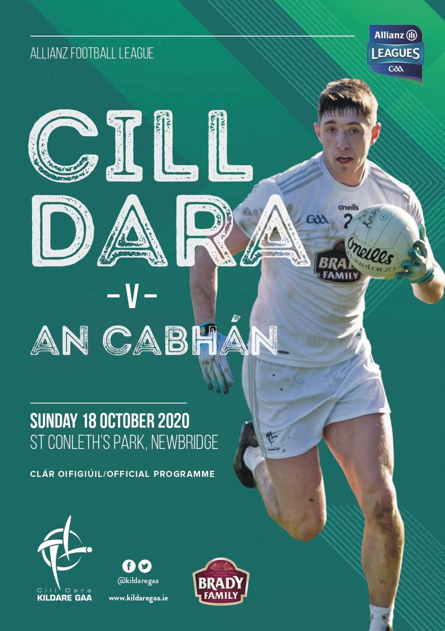 Match Programme – Kildare v Cavan